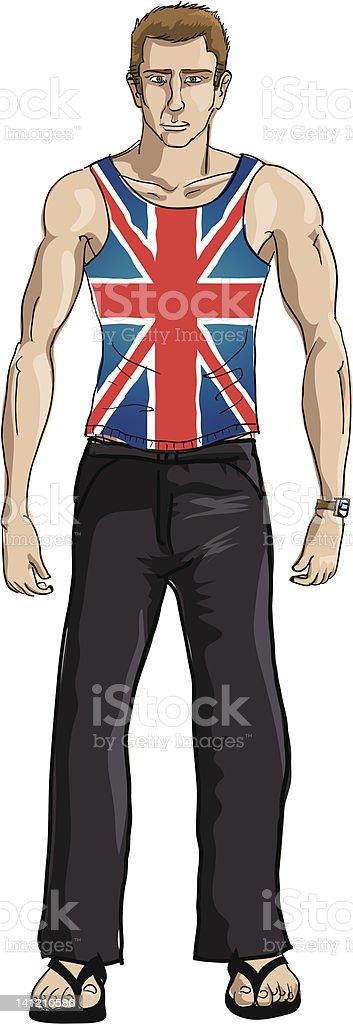 British man vector art illustration