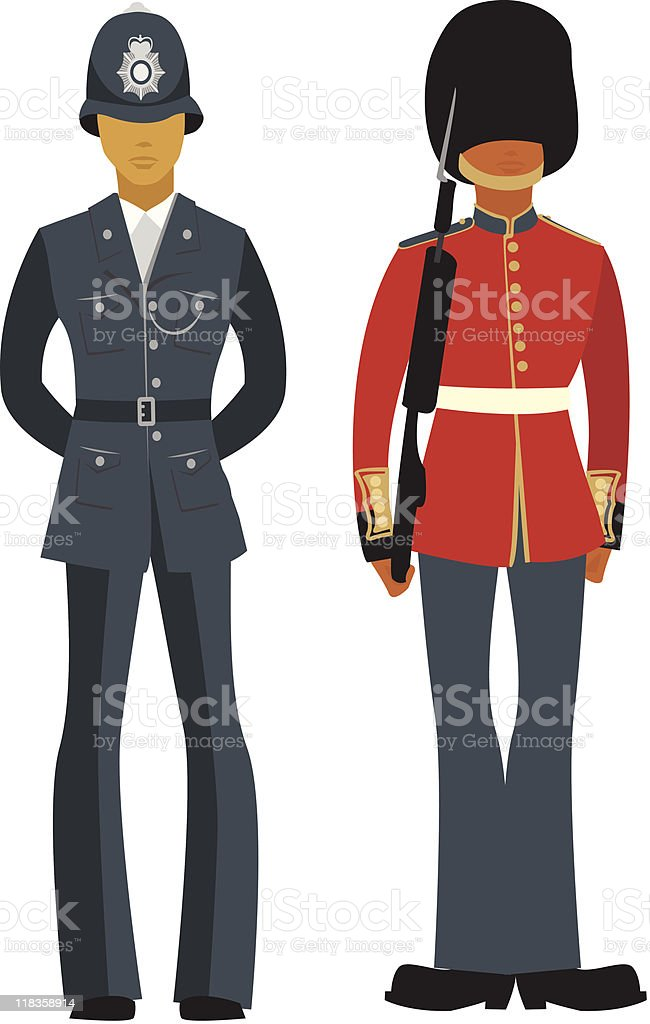 British  Officers royalty-free stock vector art
