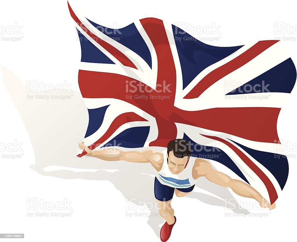 British Race Winner royalty-free stock vector art