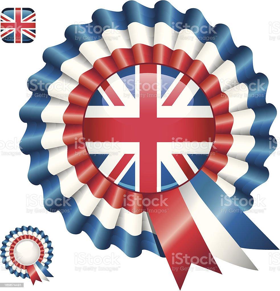 British Rosette. royalty-free stock vector art
