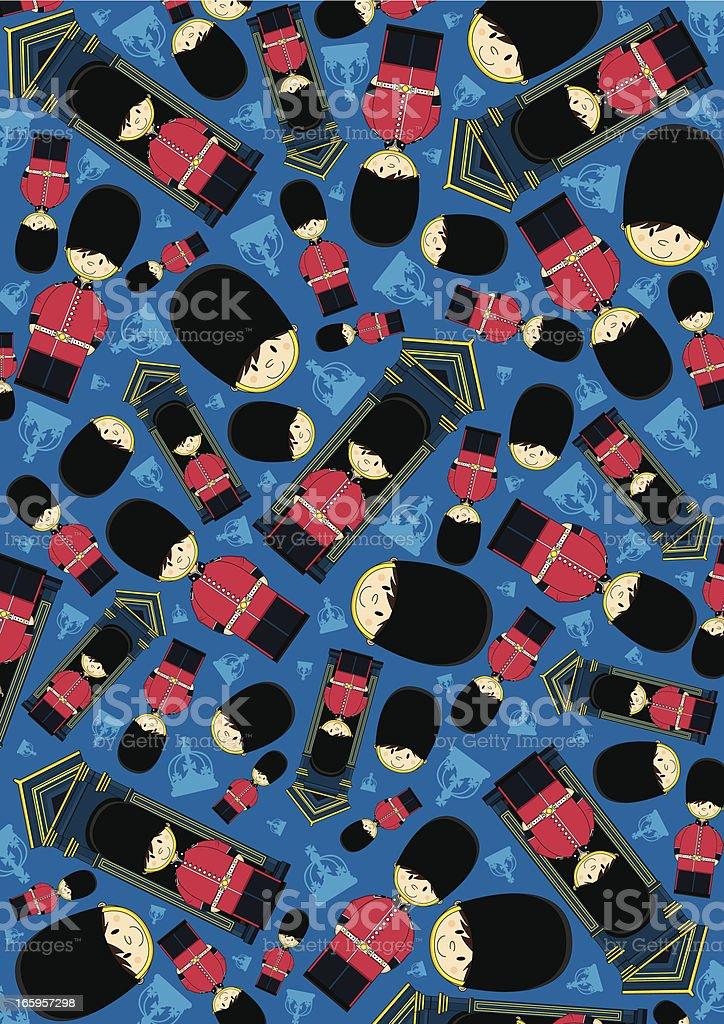 British Royal Guard Pattern royalty-free stock vector art