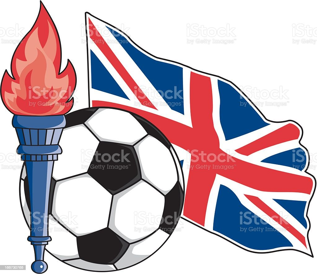 British Soccer Emblem royalty-free stock vector art