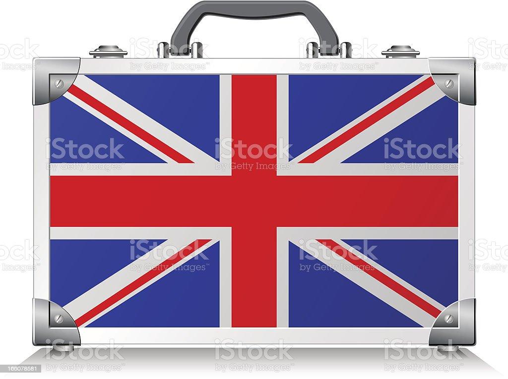 British Suitcase vector art illustration