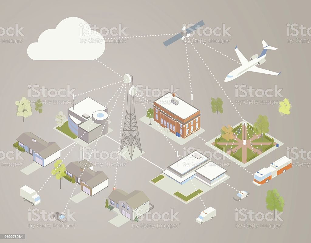 Broadband Diagram Illustration vector art illustration