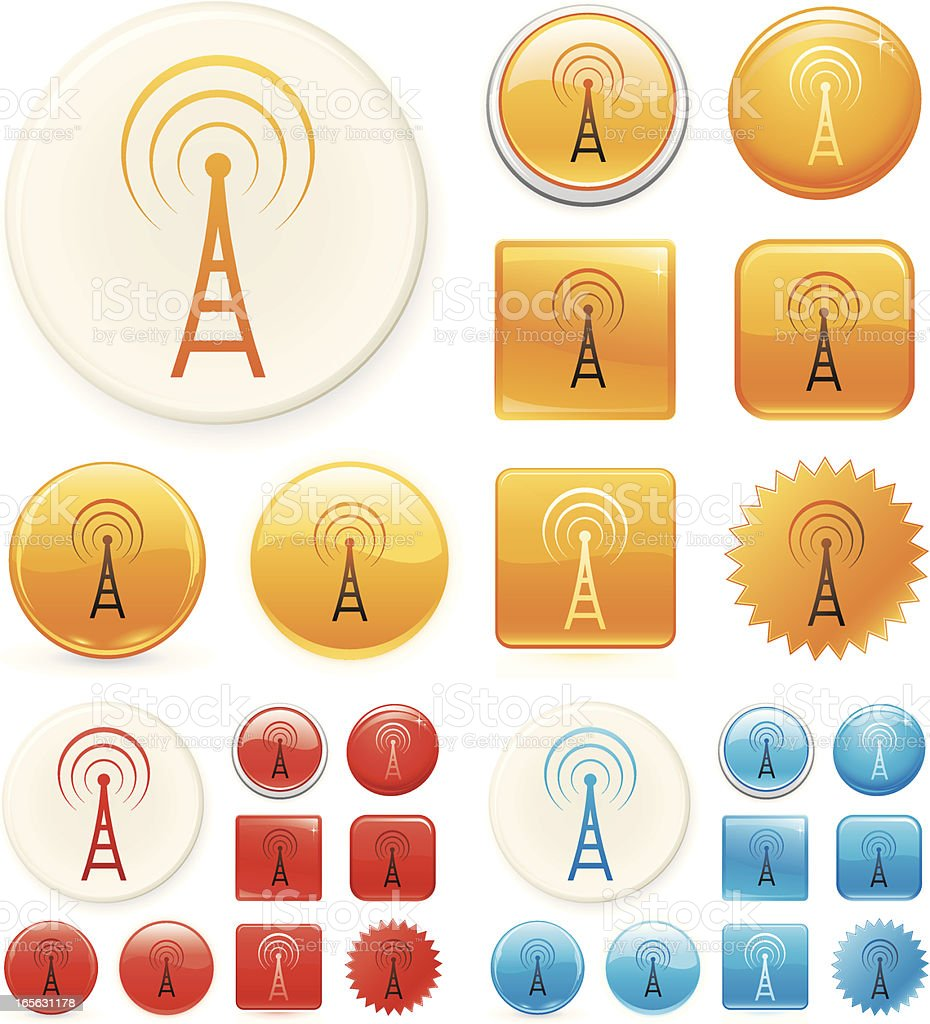 Broadcast icons royalty-free stock vector art
