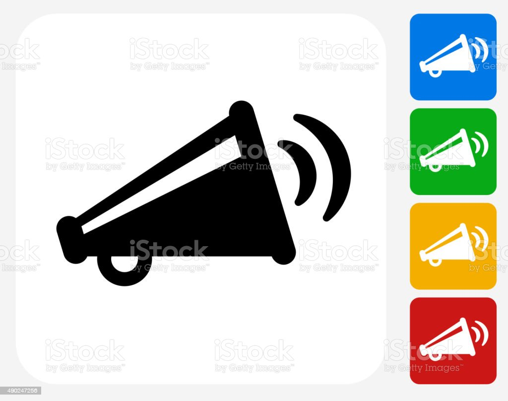 Broadcasting Megaphone Icon Flat Graphic Design vector art illustration
