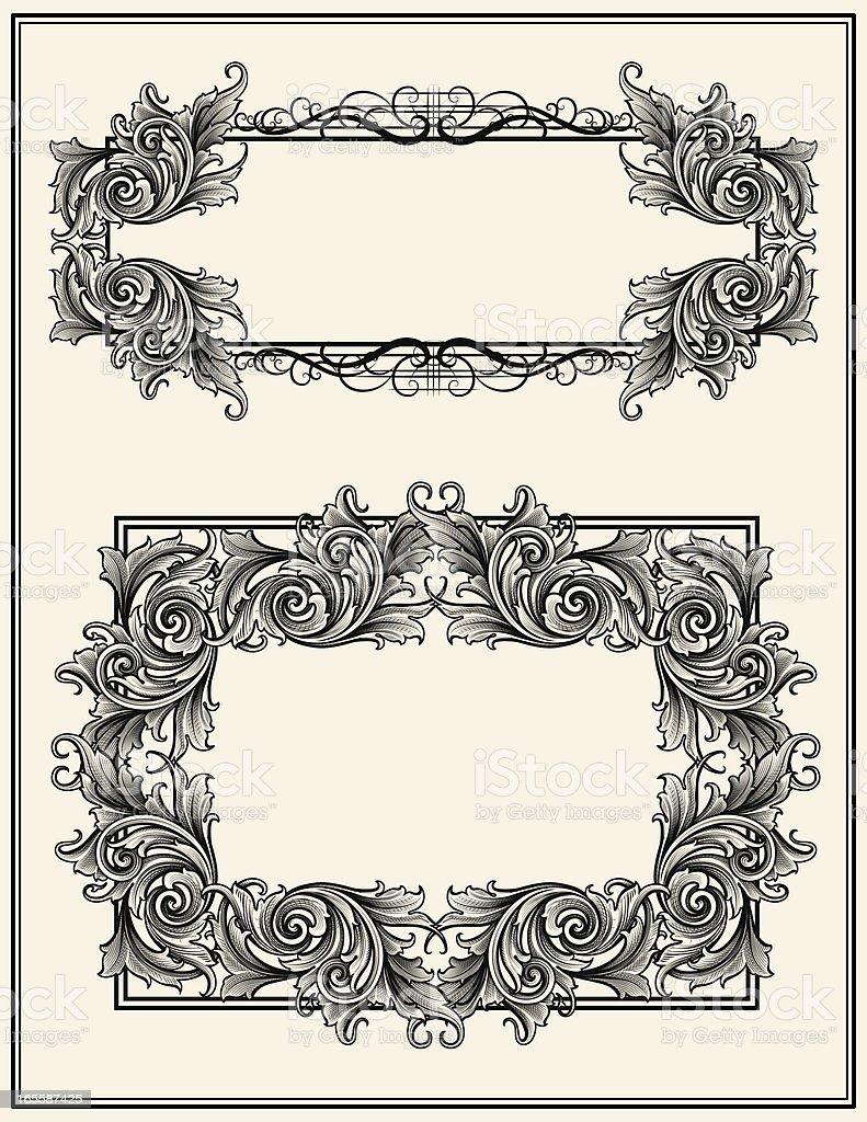 Broadleaf Frames royalty-free stock vector art