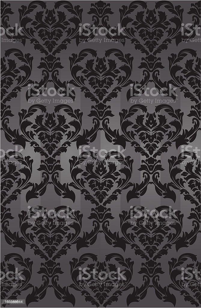 Brocade Wallpaper vector art illustration