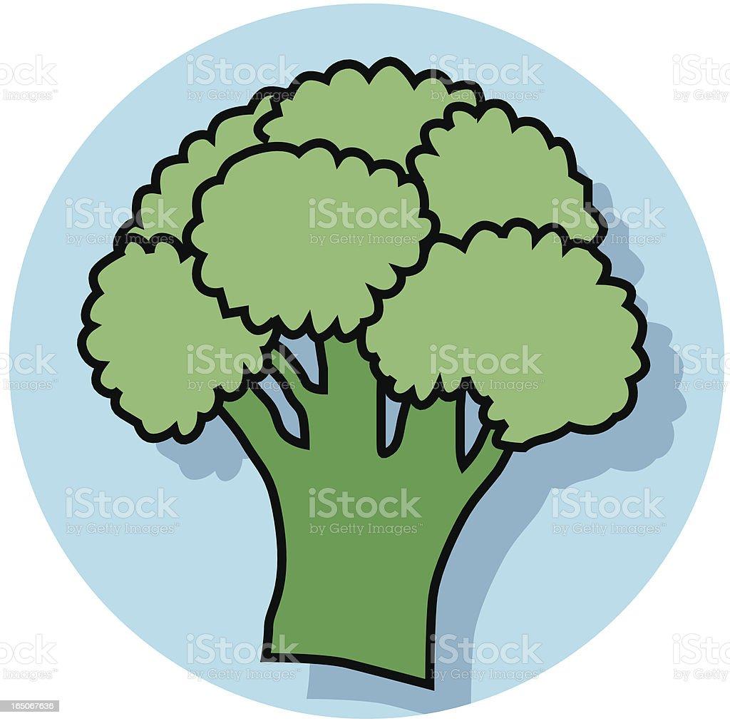 broccoli icon royalty-free stock vector art