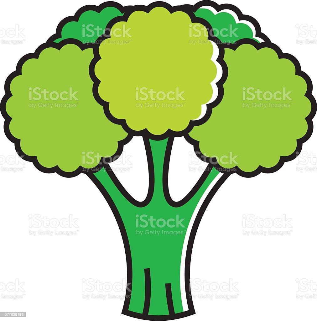 Broccoli Line Icon vector art illustration