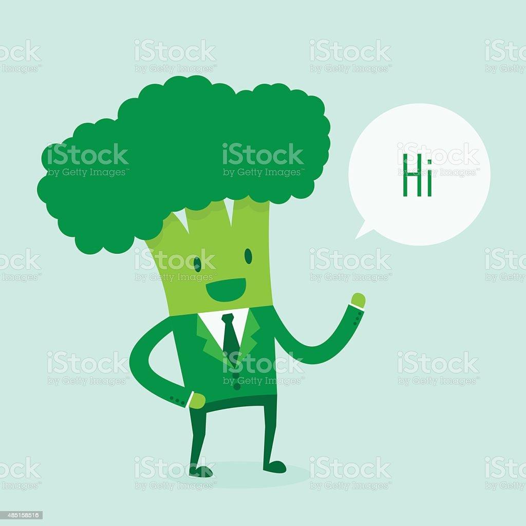 Broccoli man vector art illustration