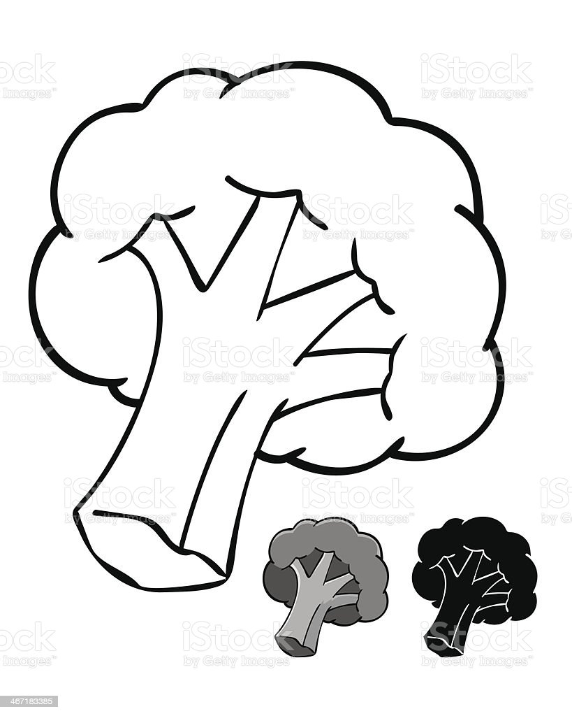 Broccoli Silhouette royalty-free stock vector art