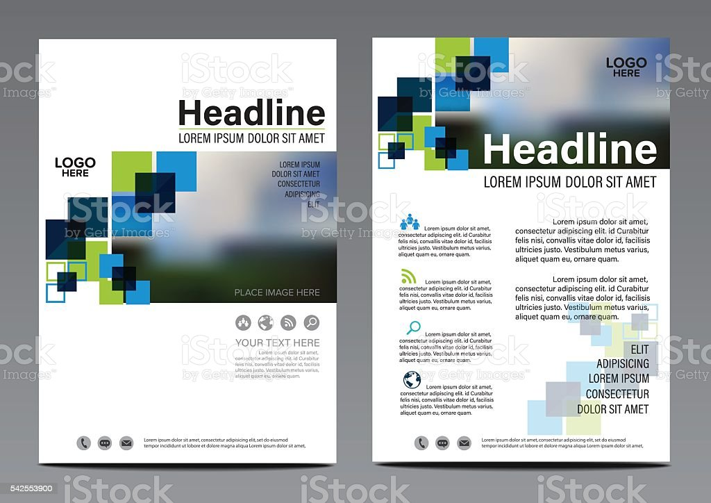 Brochure Annual Report Flyer design template. Leaflet cover...