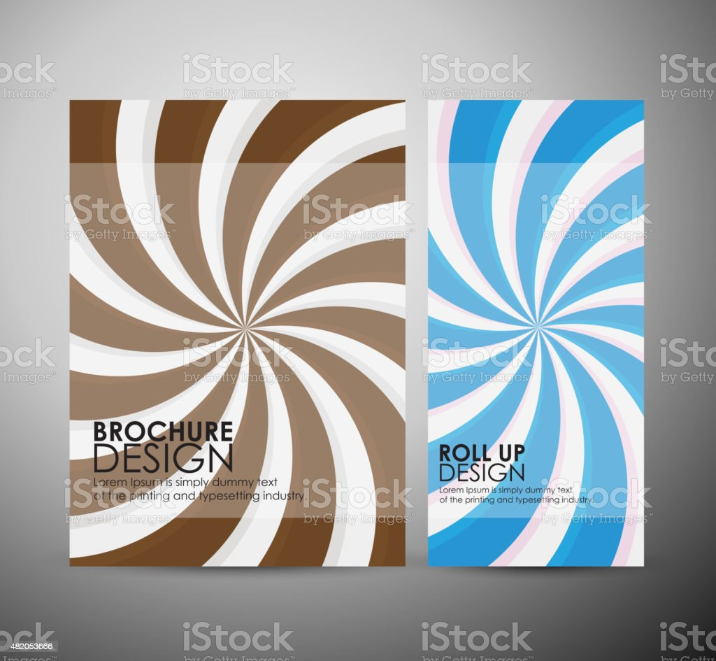 Brochure business design retro template or roll up. vector art illustration