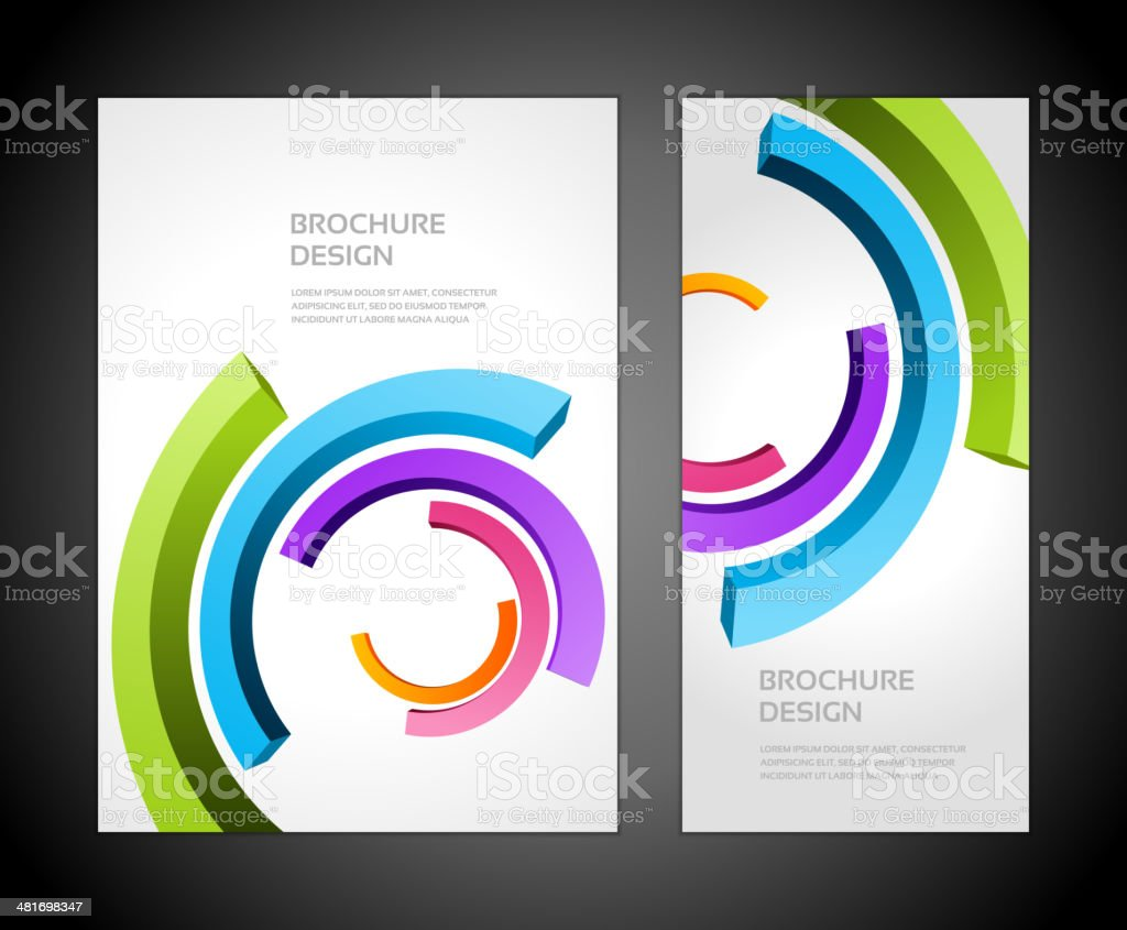 Brochure business design template or banner vector art illustration