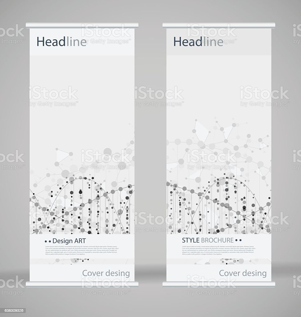 Brochure cover design. Abstract roll up. Modern poster magazine layout vector art illustration