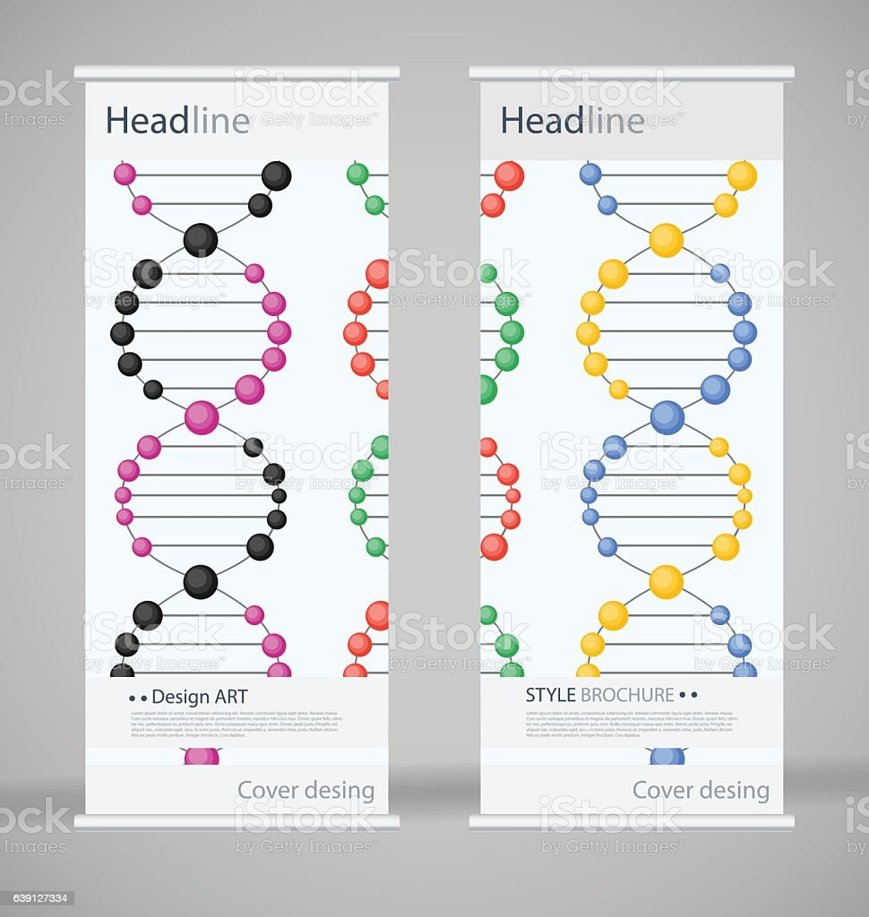 Brochure cover design. Abstract roll up. Modern poster magazine...
