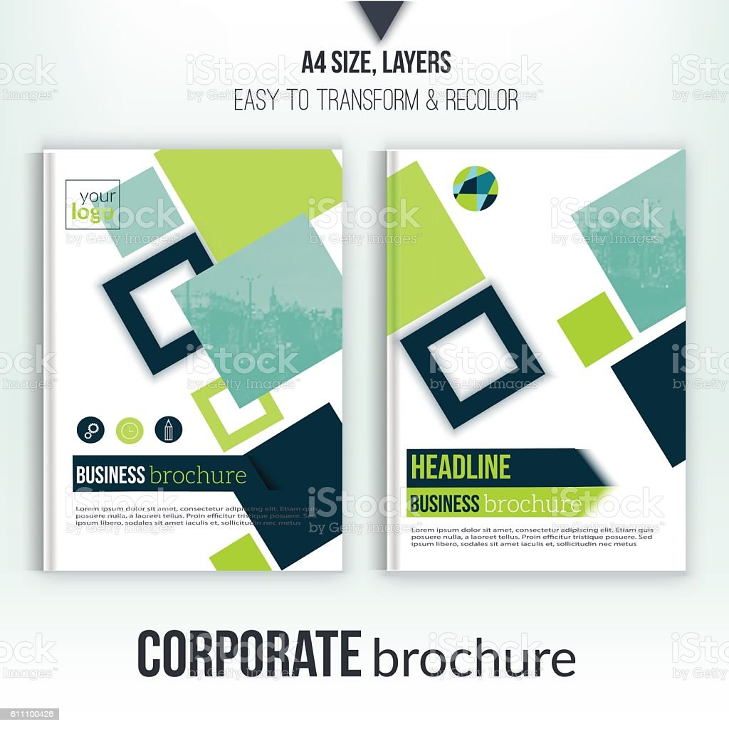 Brochure Cover Template With Blurred City Landscape Flyer – Professional Corporate Flyer