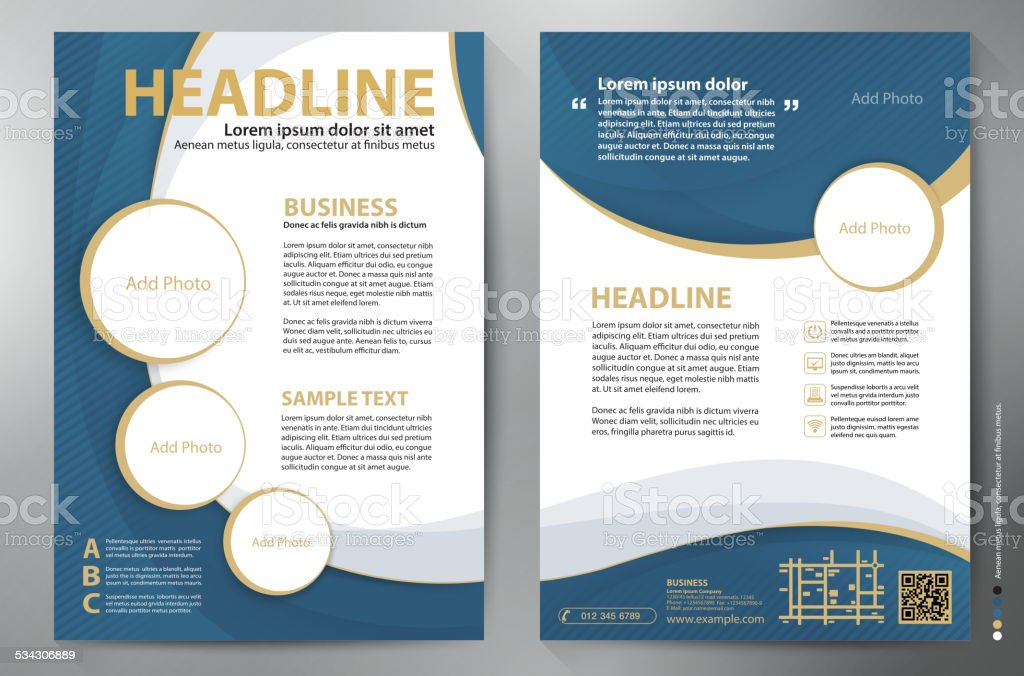 Brochure design a4 vector template. vector art illustration