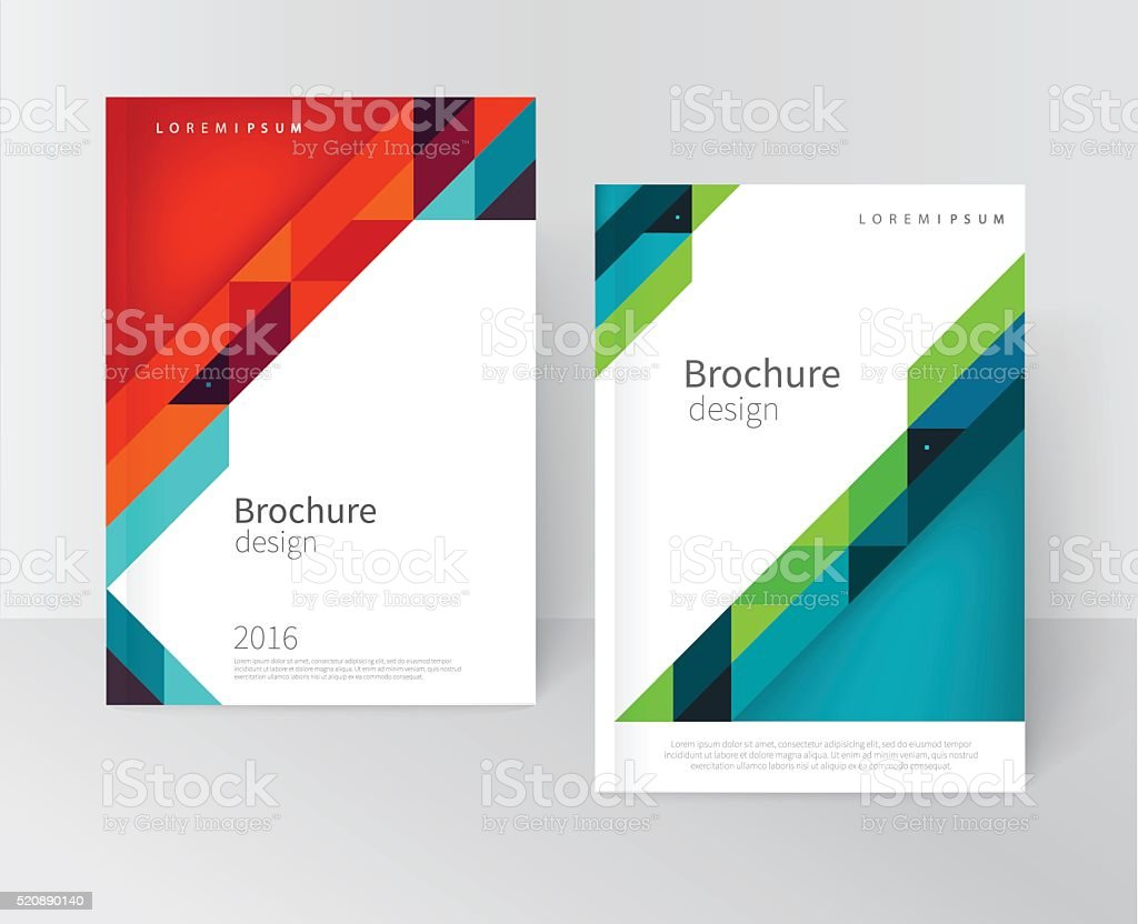 Brochure, flyer, annual report cover template vector art illustration