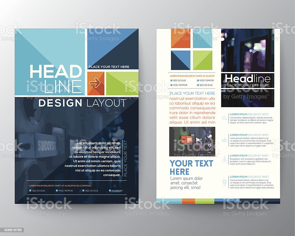 Brochure Flyer design Layout vector template vector art illustration