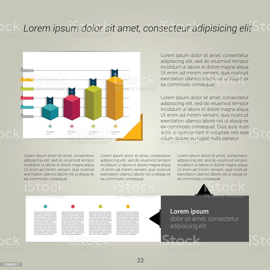 Brochure, flyer, newsletter, annual report layout template. vector art illustration