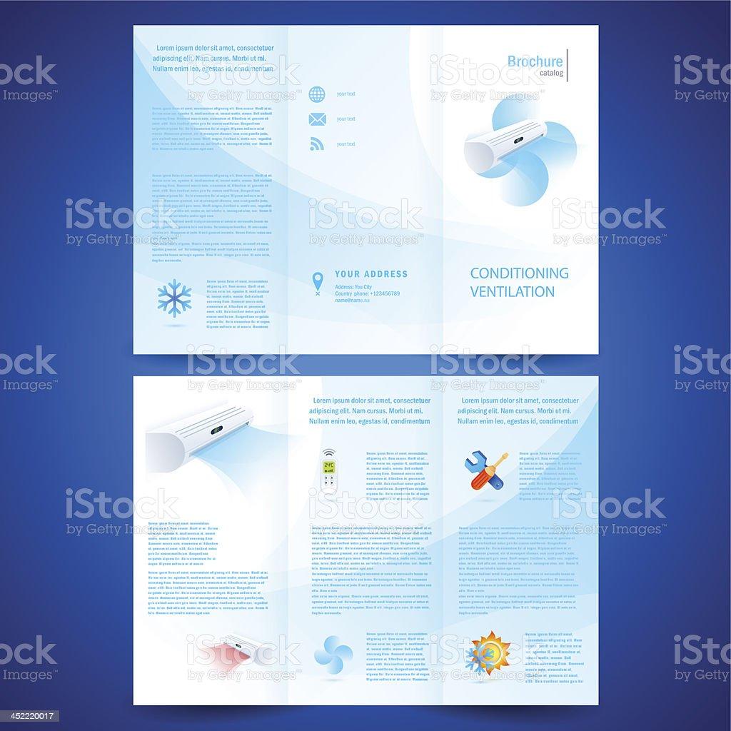 brochure folder leaflet air conditioner - conditioning ventilation system royalty-free stock vector art