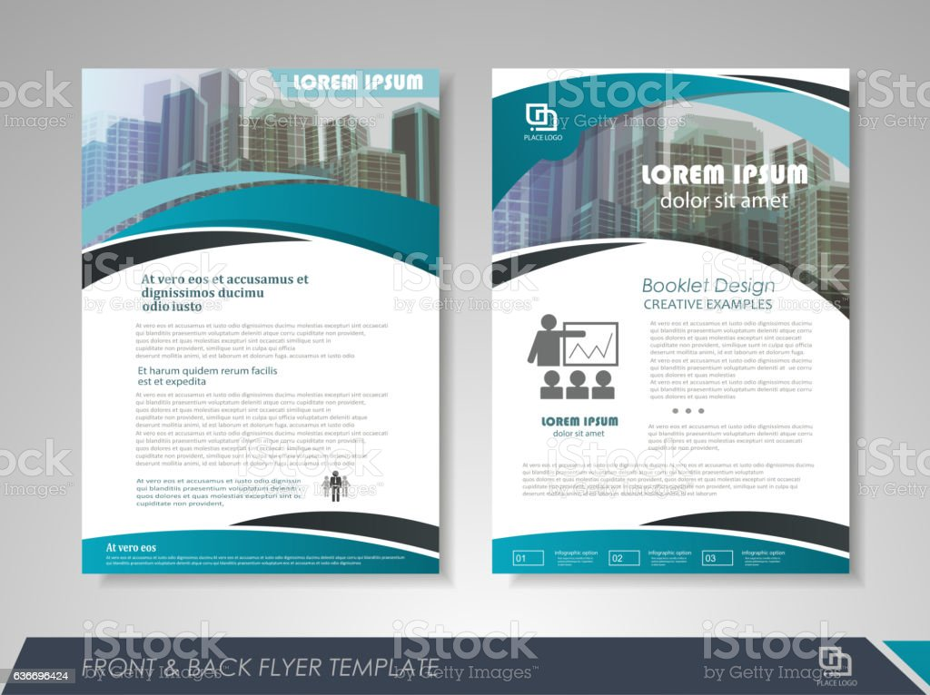 Brochure layout design template vector art illustration