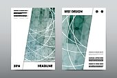 Brochure layout template flyer design vector, Magazine booklet cover abstract