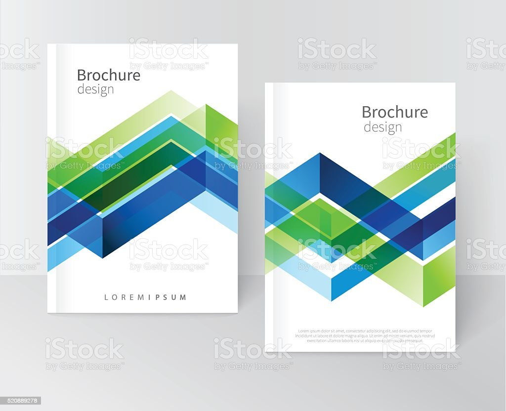 Brochure, leaflet, flyer, cover template vector art illustration