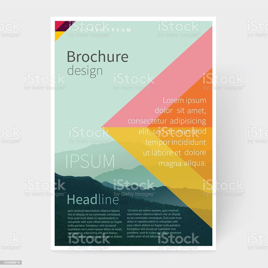 Brochure, leaflet, flyer, poster template. vector art illustration