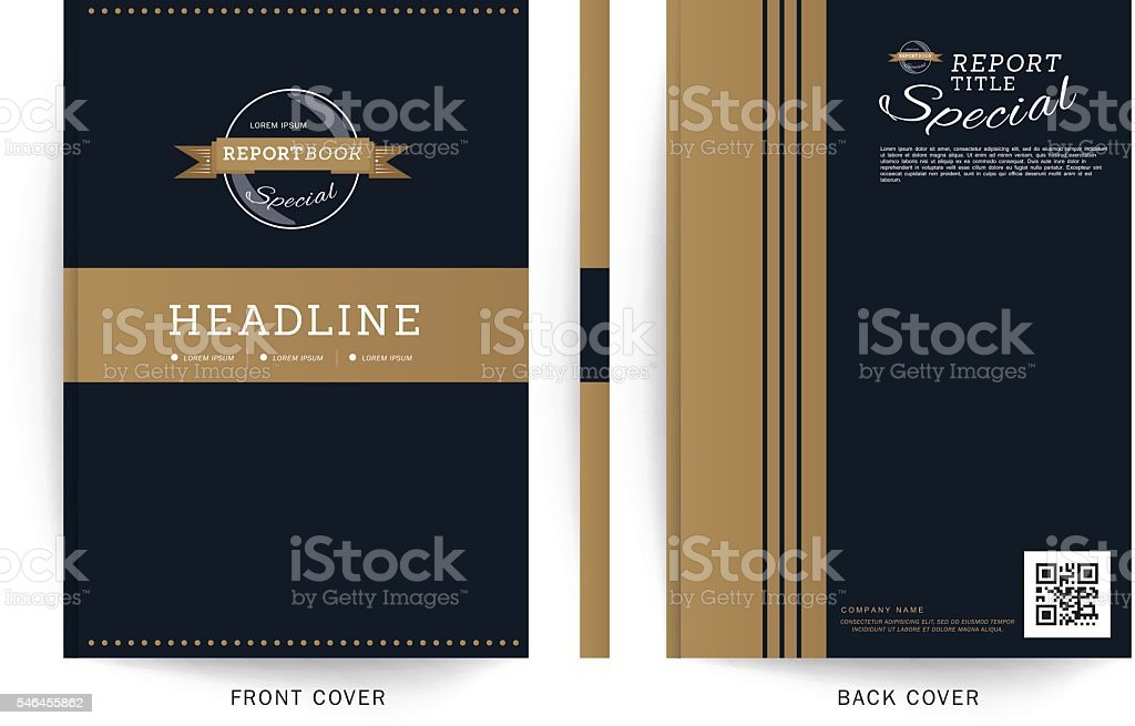 Brochure report business magazine poster template.Blue and Gold vector art illustration