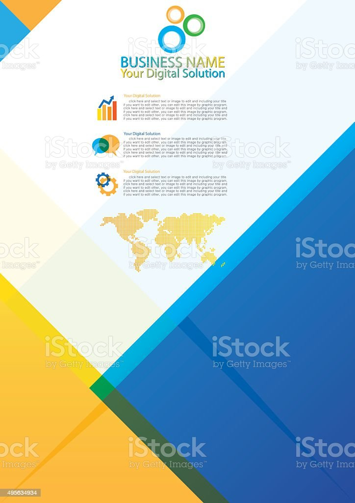 Brochure template abstract design vector art illustration