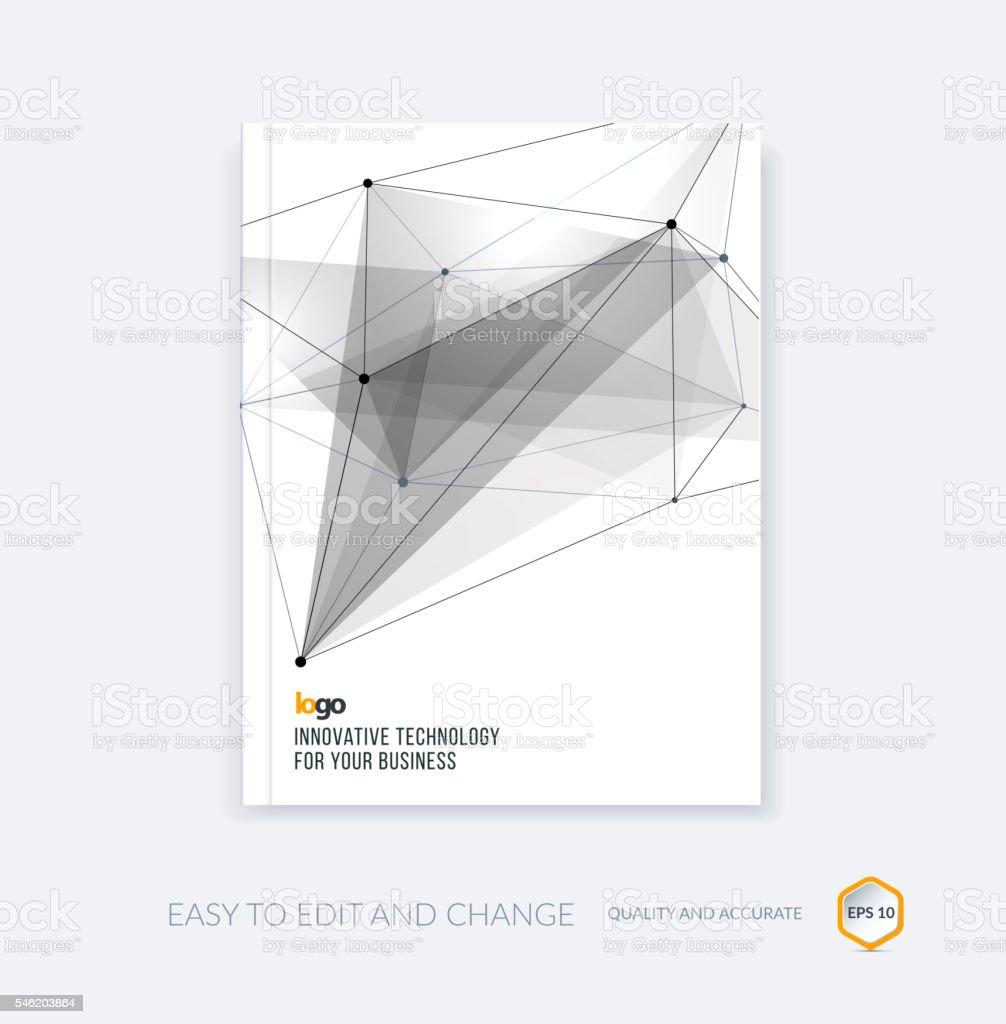 Brochure template, cover design annual report, flyer layout, lea vector art illustration