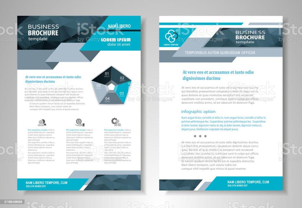 Brochure template design royalty-free stock vector art
