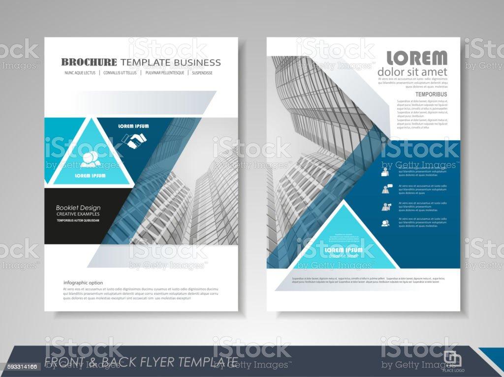 Brochure template design vector art illustration