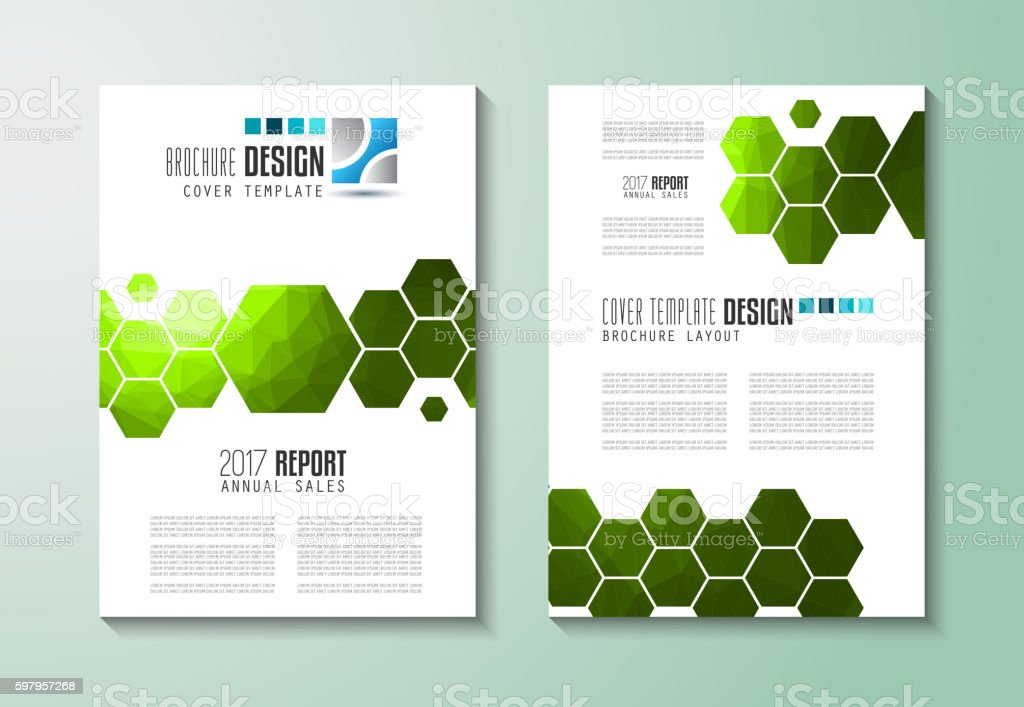 Brochure template, Flyer Design or Depliant Cover for business...