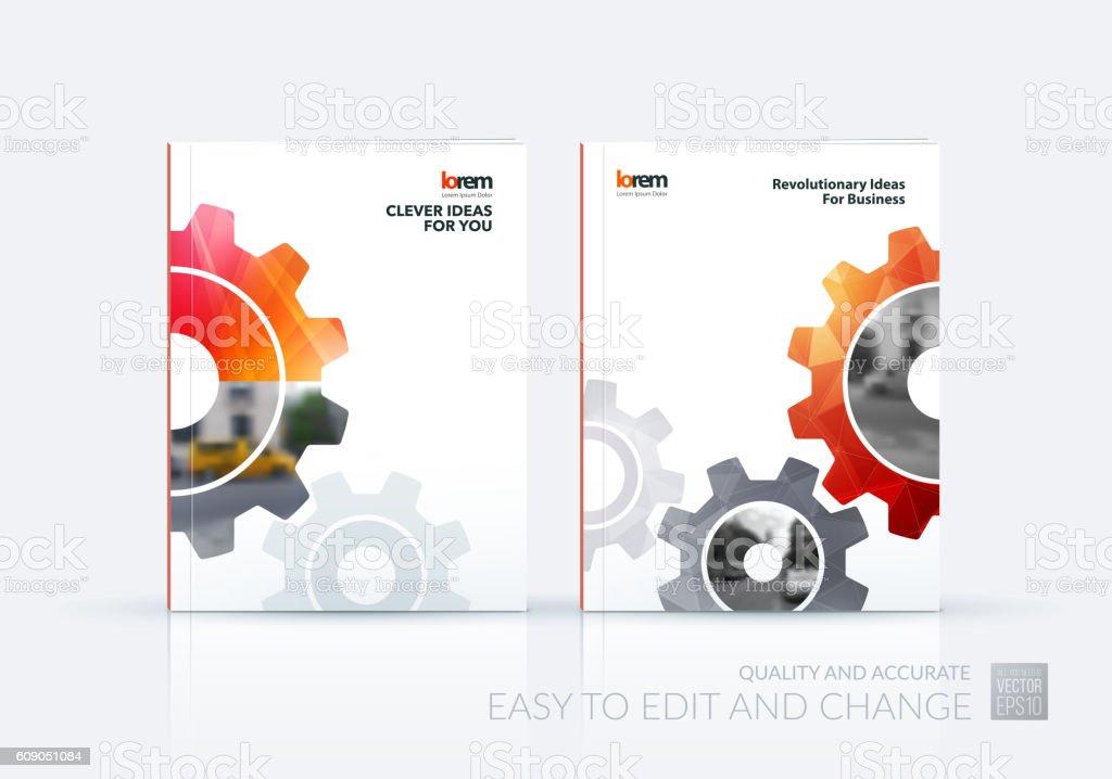 Brochure template layout, cover design annual report, flyer, lea vector art illustration