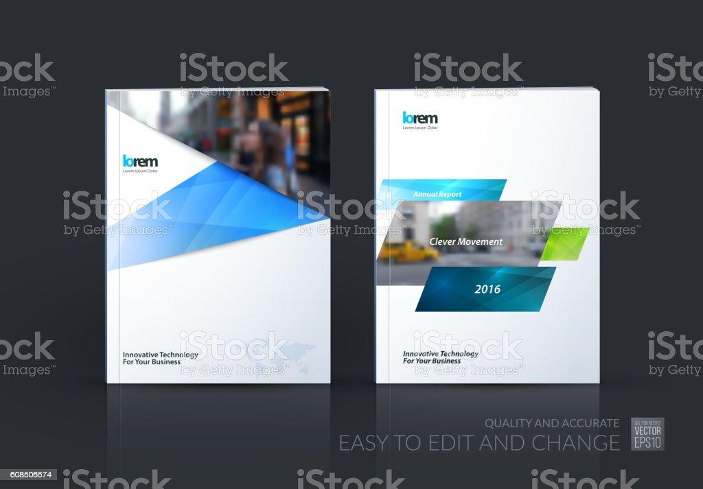 Brochure template layout, cover design annual report, magazine, vector art illustration
