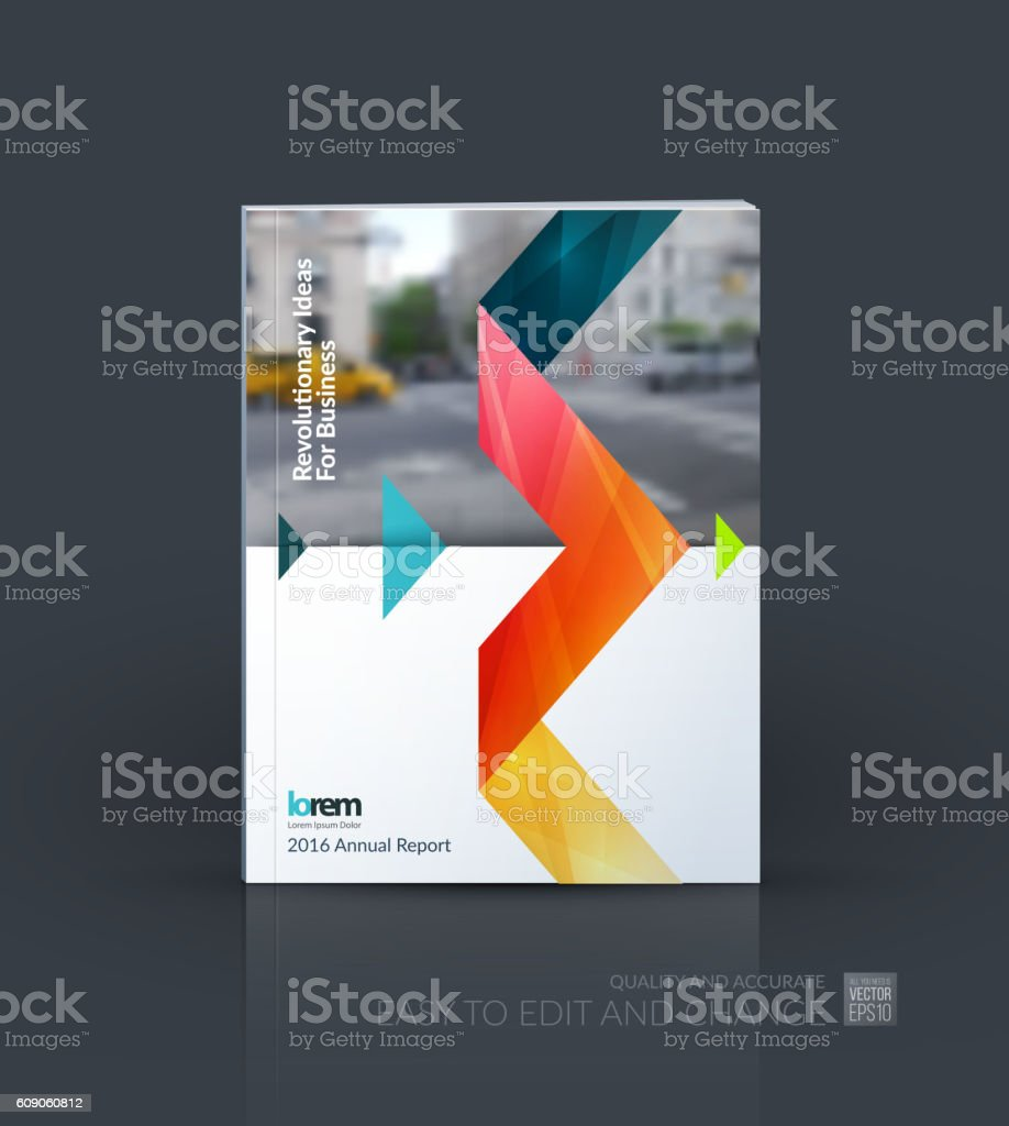Brochure template layout, cover design annual report, magazine, royalty-free stock vector art
