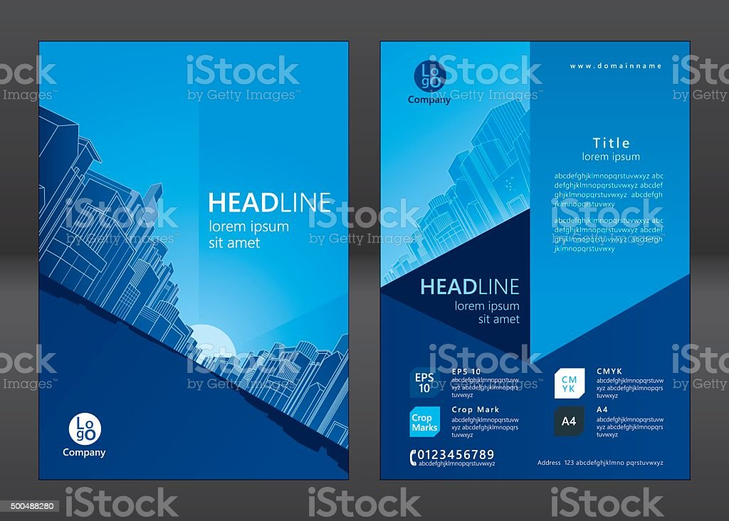 Brochure template vector art illustration