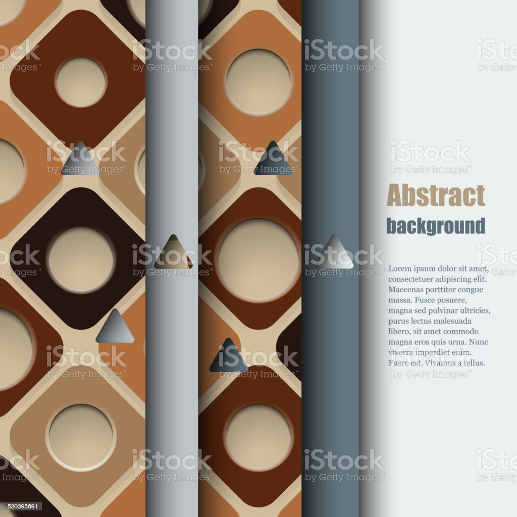 Brochure template with abstract background vector art illustration