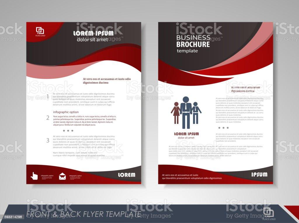 Brochures and flyers template design vector art illustration