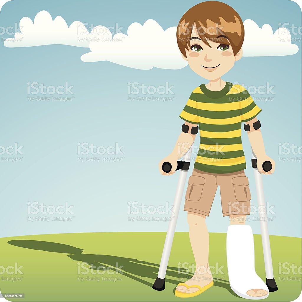 Broken Ankle vector art illustration