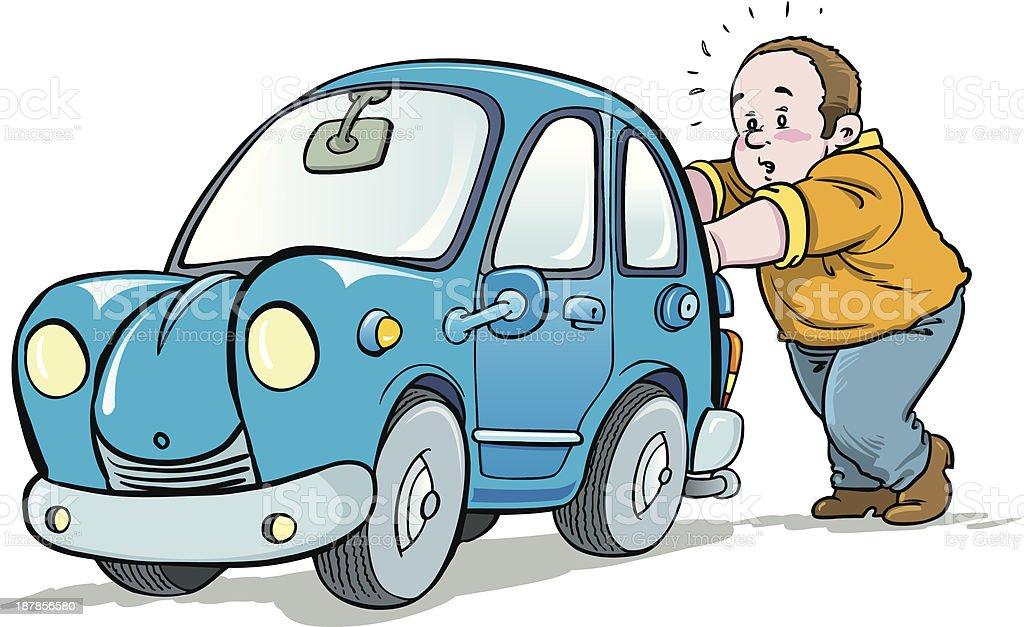 Resultado de imagen de pushing car