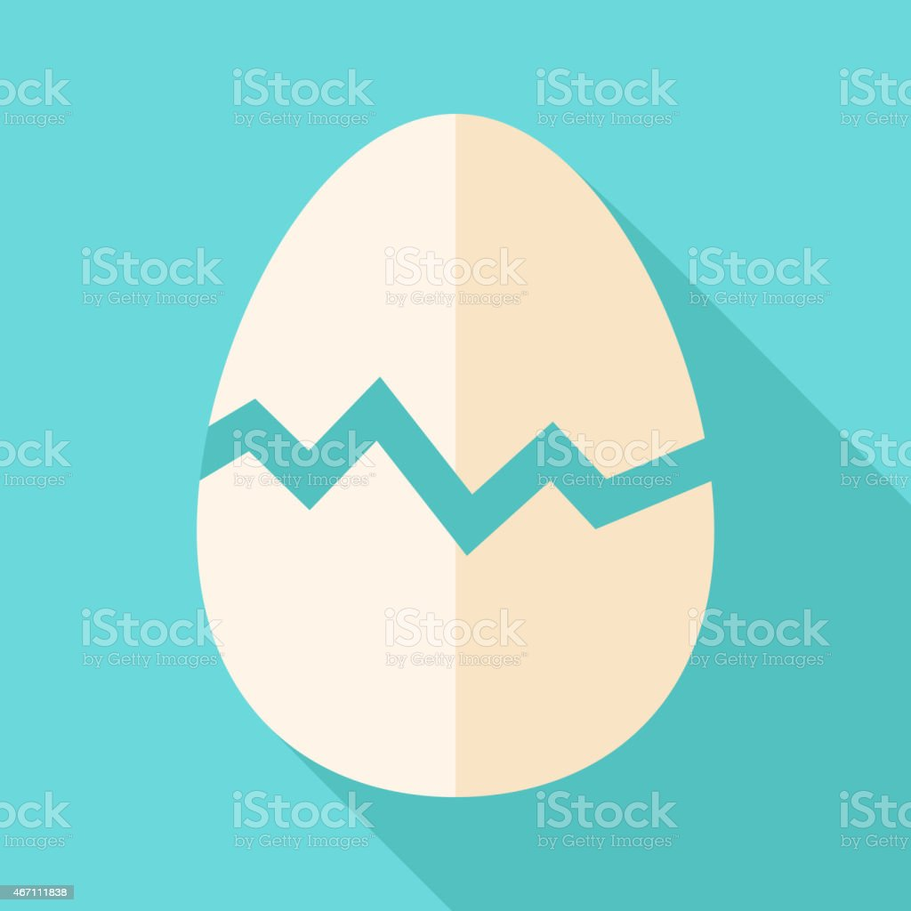 Broken egg vector art illustration