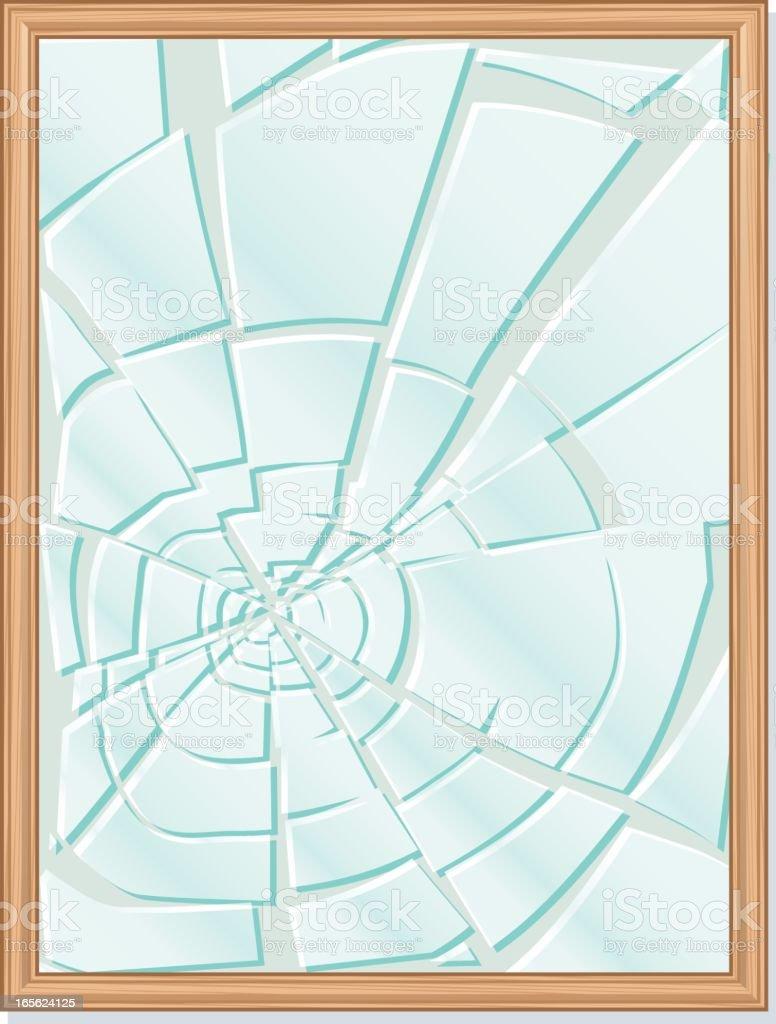 Broken Frame vector art illustration