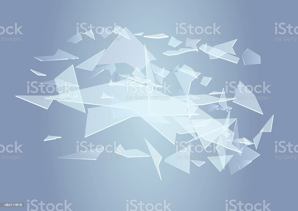broken glass background vector art illustration