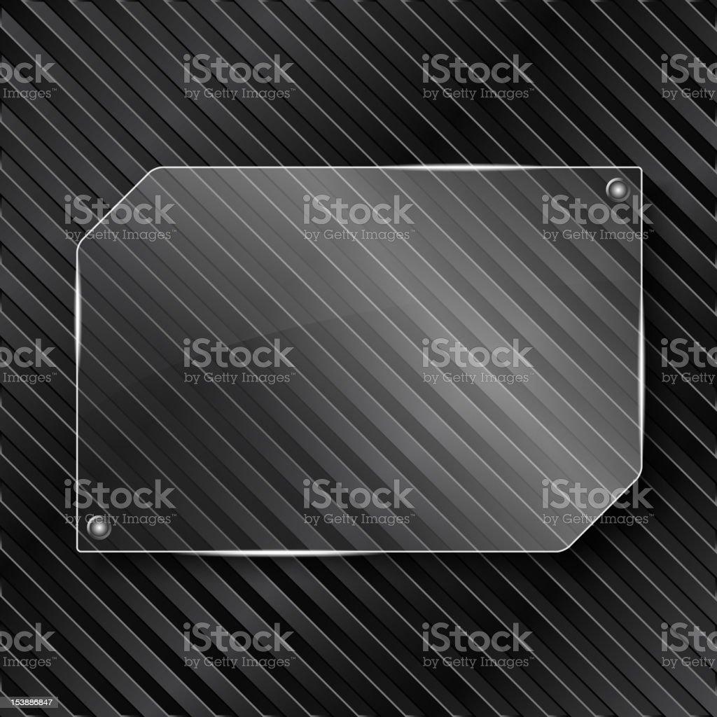 Broken glass frame on a black grid royalty-free stock vector art