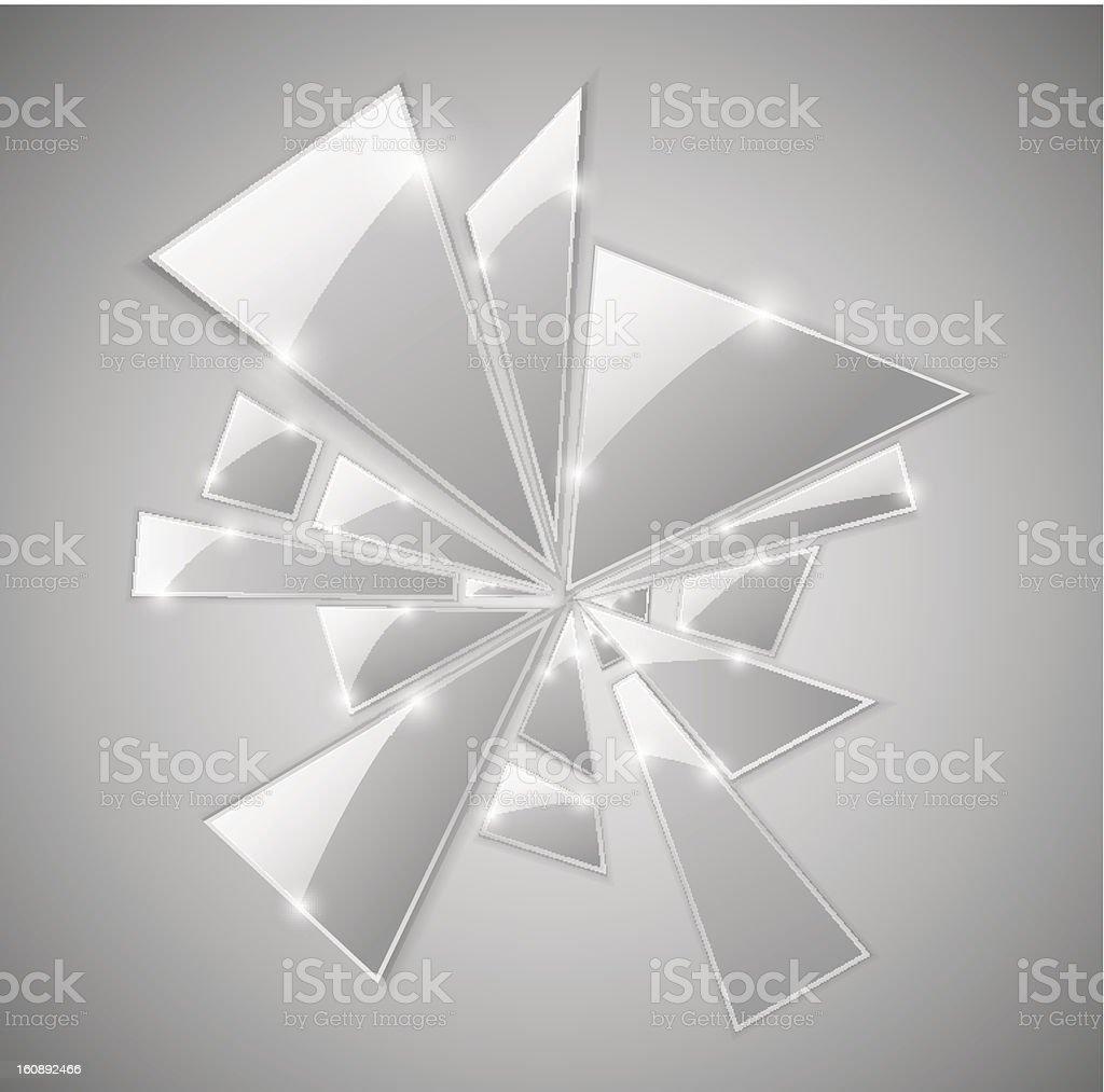 Broken glass vector art illustration